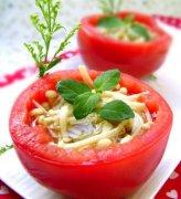 减脂美食 橄榄油菌菇番茄盅